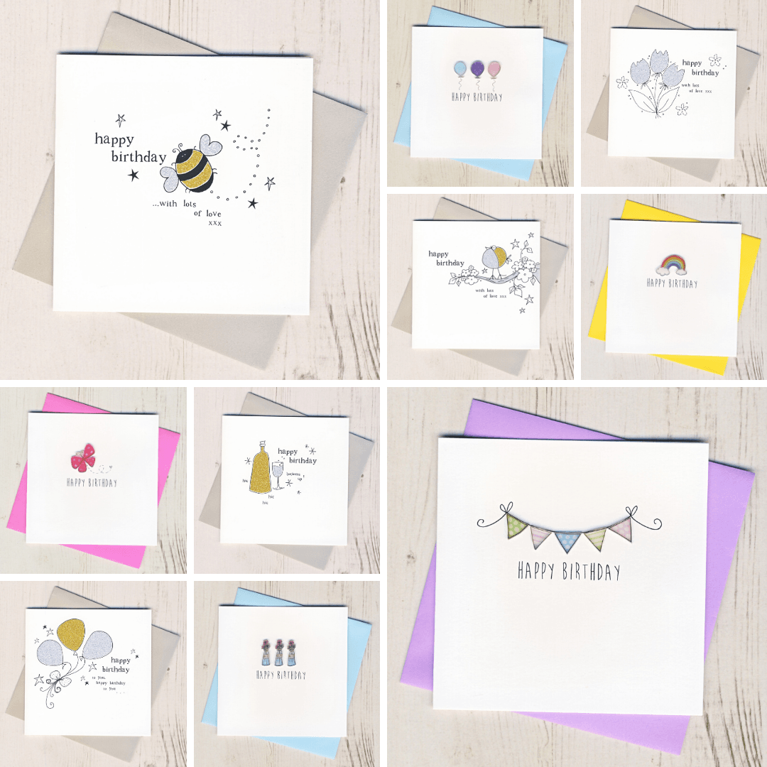 Mixed Pack of Ten Selected Birthday Cards