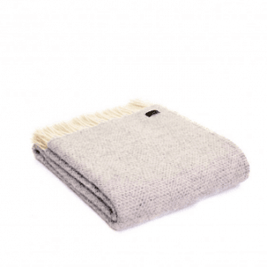Tweedmill Beehive Grey Pure New Wool Throw