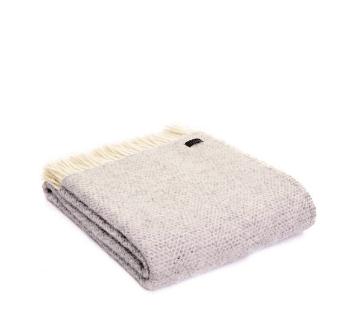 Tweedmill Beehive Grey Pure New Wool Throw