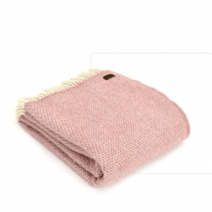 Tweedmill Beehive Pink Pure New Wool Throw
