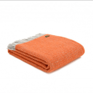 Tweedmill Illusion Pumpkin Pure New Wool Throw
