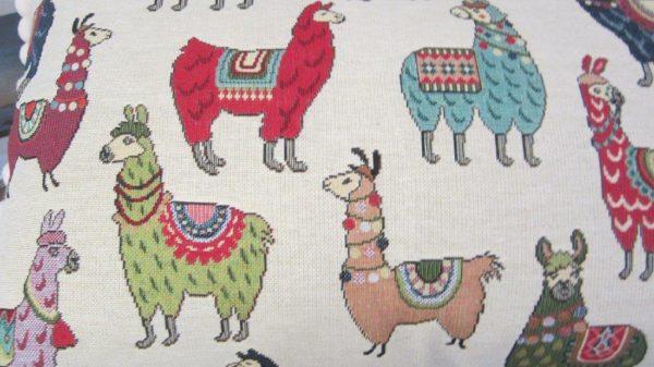 Close up llama fabric