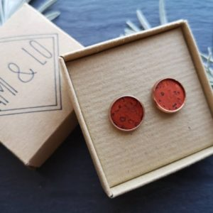 Orange cork leather large studs
