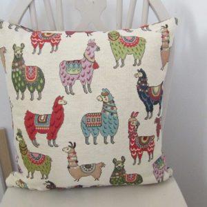 Llama square cushion