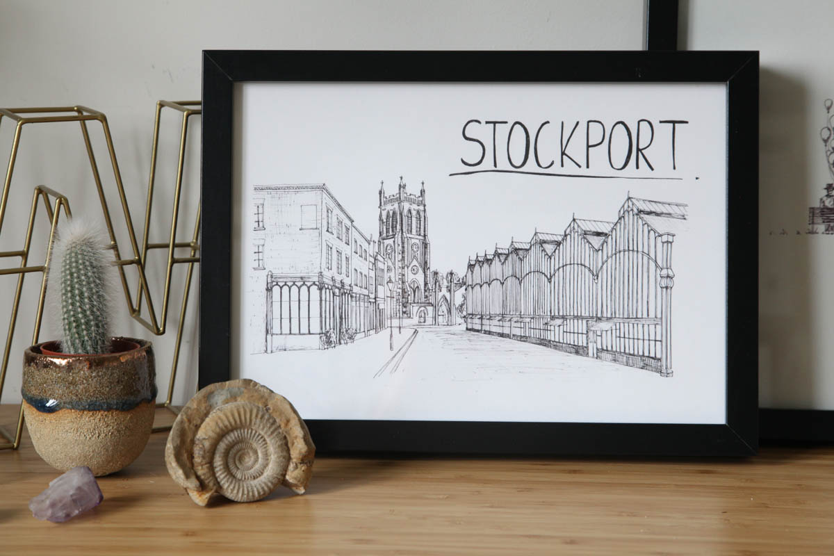 Stockport Skyline Wallart Print