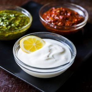 Condiments, including sauces and oils