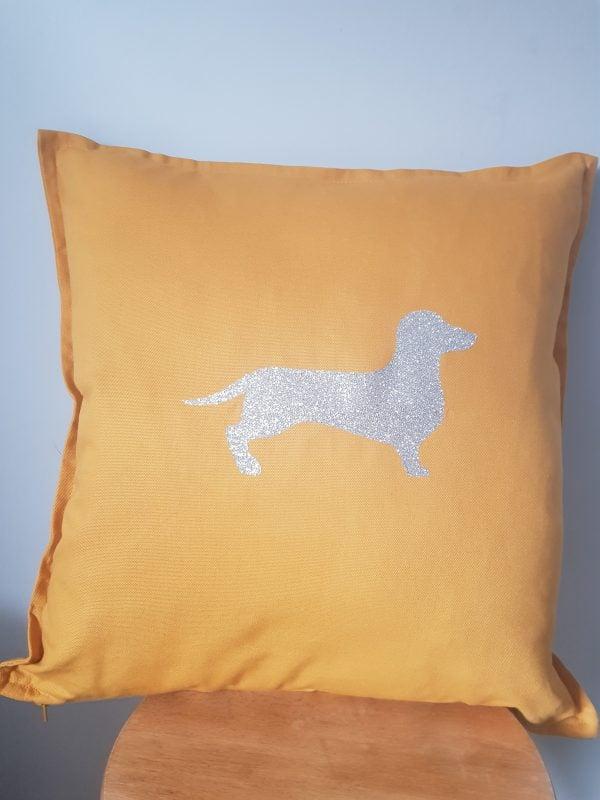 Dauchound cotton 50x50cm cushion cover
