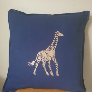 cotton 50 x 50cm giraffe cushion cover can be personalised