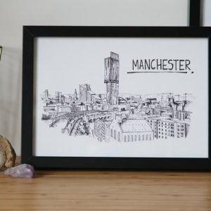 Manchester Skyline Wallart Print