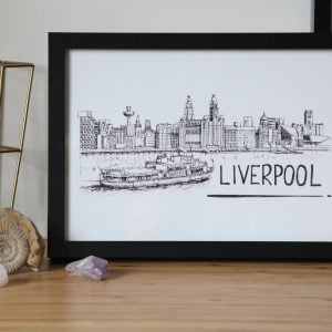 Liverpool Skyline Wallart Print