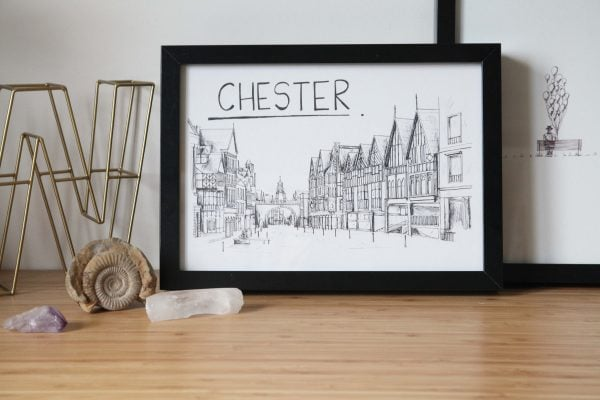 Chester Skyline Wallart Print