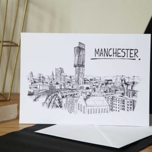Manchester Skyline Greetings Card
