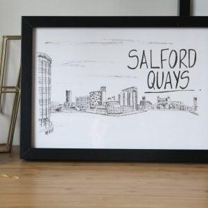 Salford Quays Skyline Print
