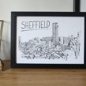 Sheffield Skyline Wallart Print