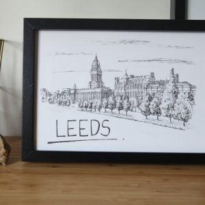 Leeds Skyline Wallart Print