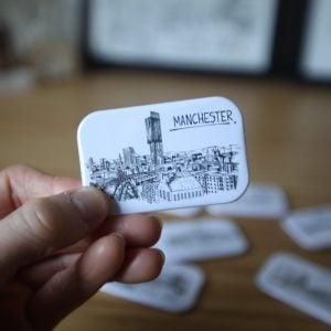 Manchester Skyline Magnet