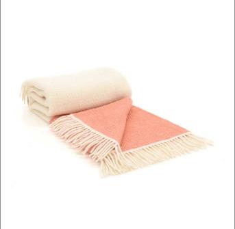 Tweedmill Illusion Apricot Pure New Wool Panel Throw