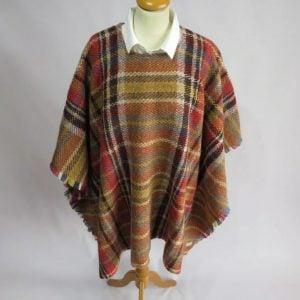 Handmade Recycled Yorkshire Blanket Poncho