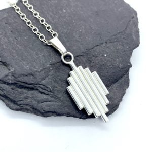 Sterling silver Art Deco pendant necklace