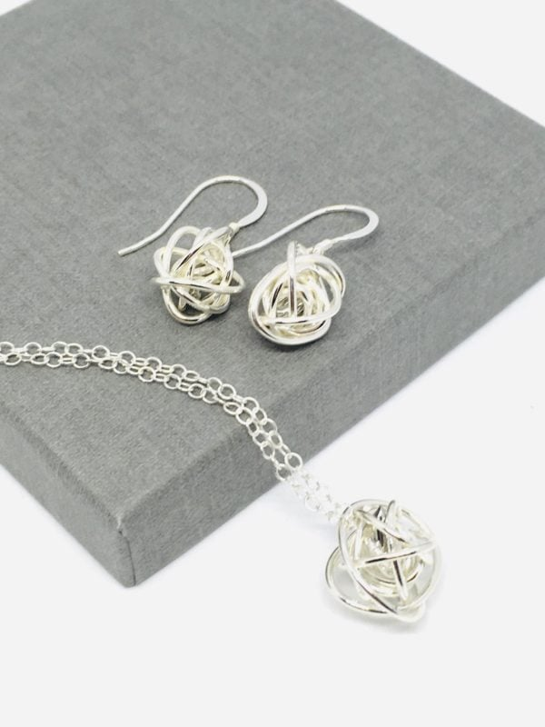 Sterling Silver necklace and earrings set