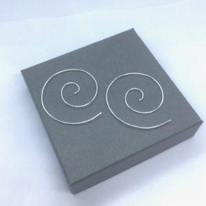 Large Sterling silver threader earrings