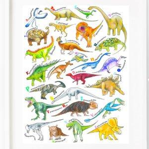 Dinosaur A-Z by Sarah Gregory Designs