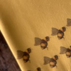 Handprinted Cashmere Blend Scarf in super Saffron colour