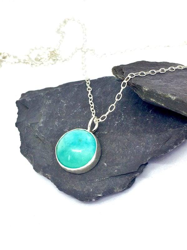 Amazonite pendant, turquoise colour jewellery