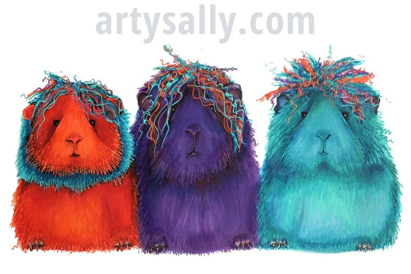 Guinea pigs (3) – print on canvas