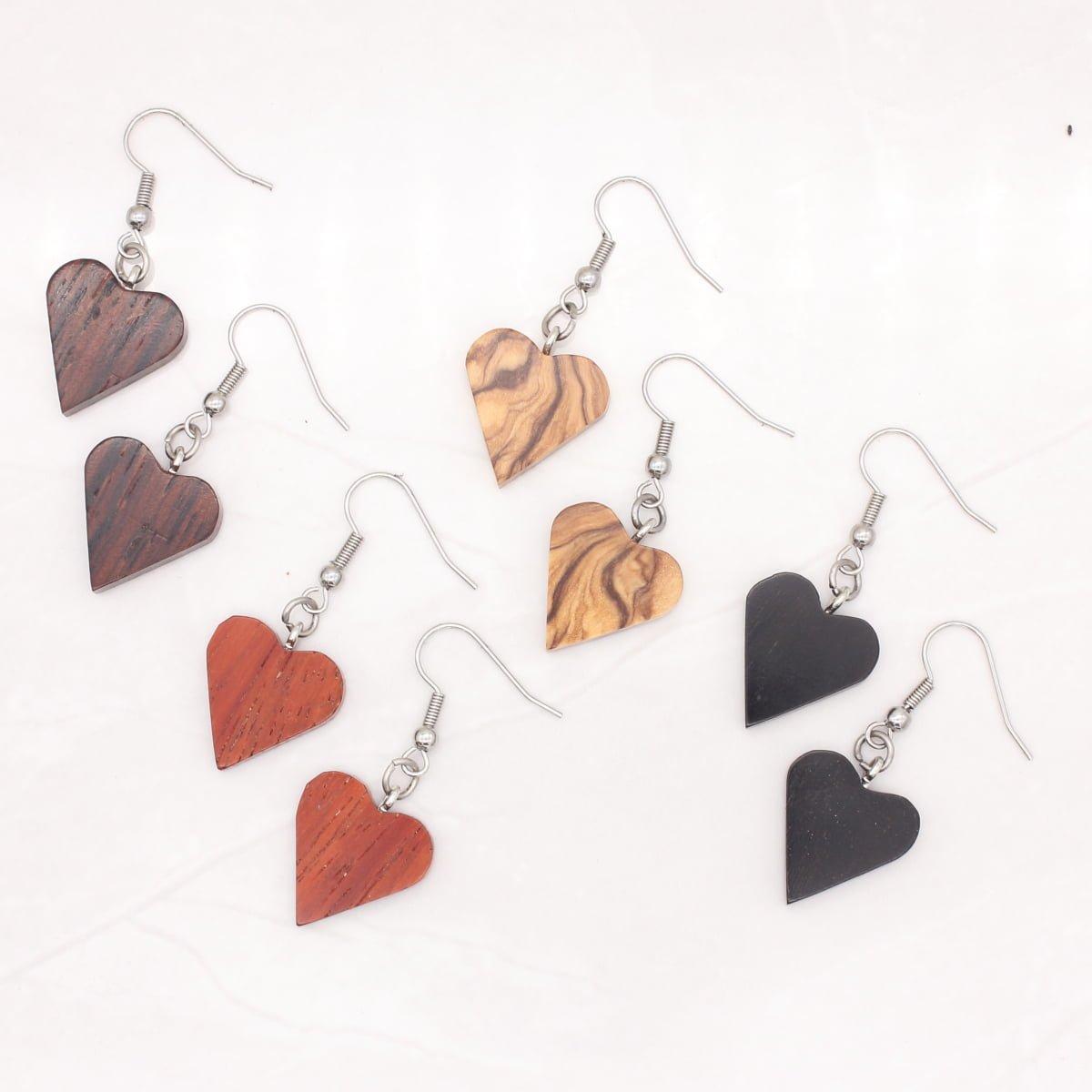 """""""Heart"""" wood earrings"""