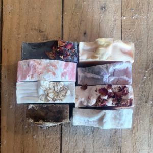 A selection of 8 different handmade soaps