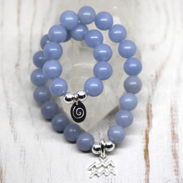 Aquarius Zodiac Bracelet - Angelite