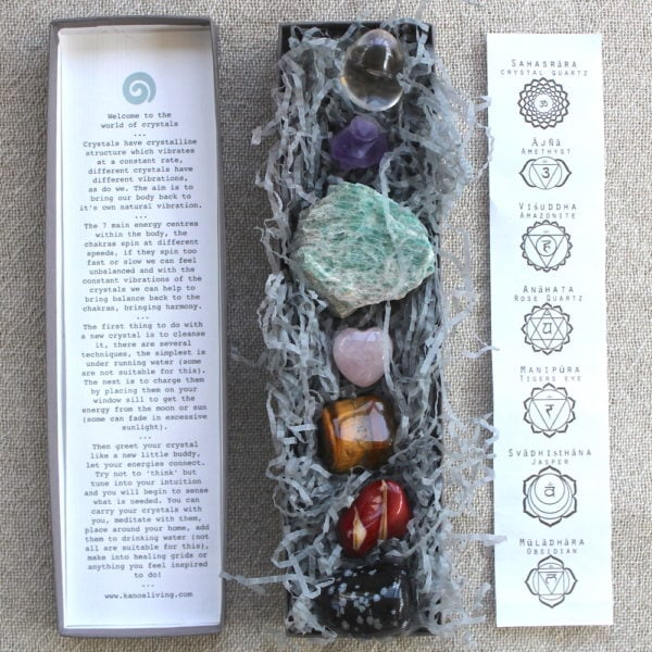 Crystal Starter Pack with Instructions and 7 Chakras