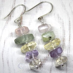 Fluorite & Sterling Silver Earrings
