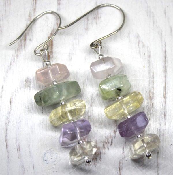 Fluorite & Sterling Silver Earrings