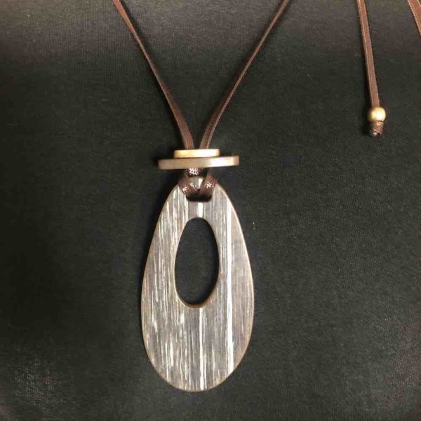 Long cord pendent Necklace adjustable