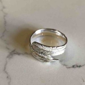 silver, plume, ring,