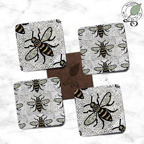 Manchester Bee Coaster Set - Simply Bee