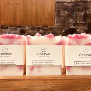 pink cherry blossom soap