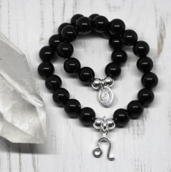 Leo Zodiac Bracelet - Onyx