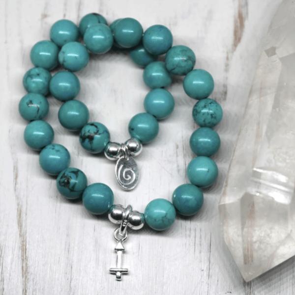 Sagittarius Zodiac Bracelet - Chalk Turquoise