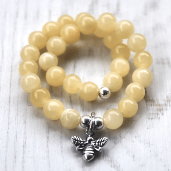 Aragonite Manchester Bee Bracelet