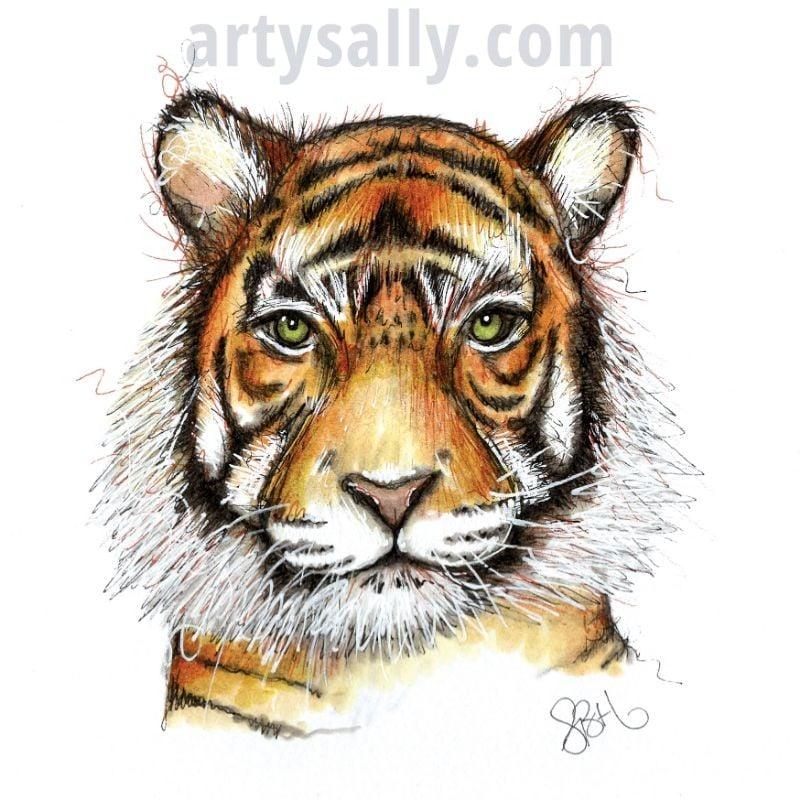 Tiger print on canvas