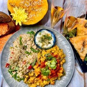 Indian Farmhouse Vegan Spread for Two