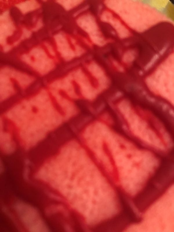 berry sorbet sponge