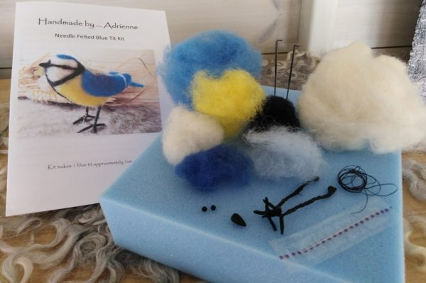 Blue tit kit packaging and contents