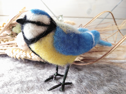 Sample of a completed blue tit sculpture