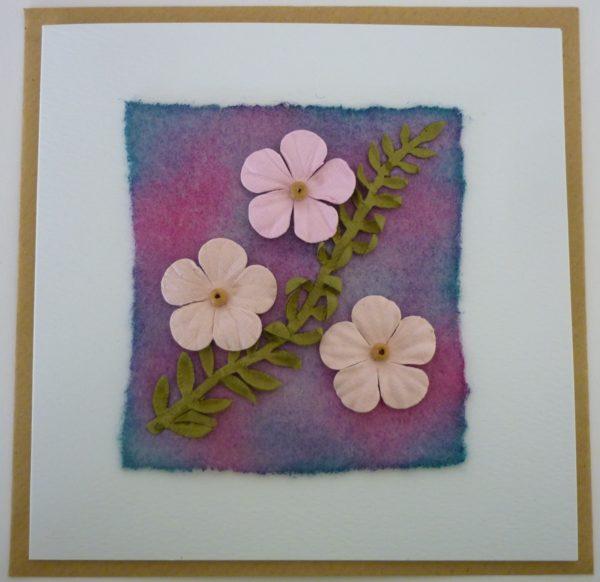 Fun Flowers Greetings Card 1