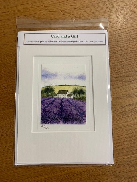 The Scent of Lavender gift card white mount and envelope pack