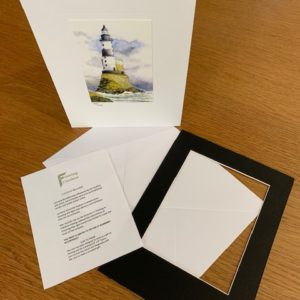 Lighthouse gift card black mount and envelope inserts